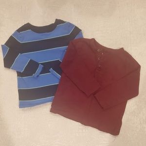 4for$20!! 2-pack cotton long-sleeve t-shirt size 2